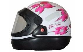 Capacete Moto Feminino Taurus San Marino Branco Tam 60
