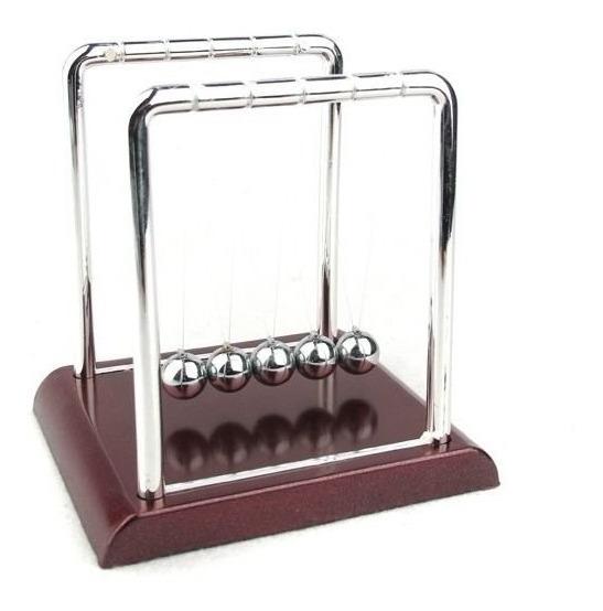 Pendulo De Newton Pequeno Decoração Escritório Jogo De Bolas