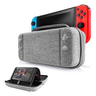 Case Funda Nintendo Switch Estuche Protector Gris 12 Juegos