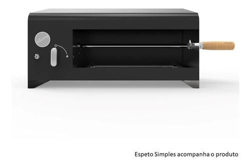 Churrasqueira Elétrica Compacta Casal 01 Espeto 127v - Preta