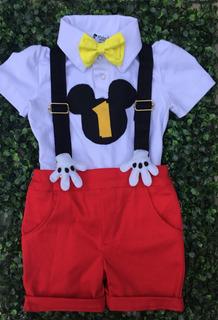 Mickey Conjunto Infantil Festa Mickey S.e.