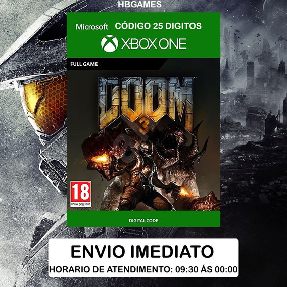 Doom 3 Xbox One - Código 25 Digitos