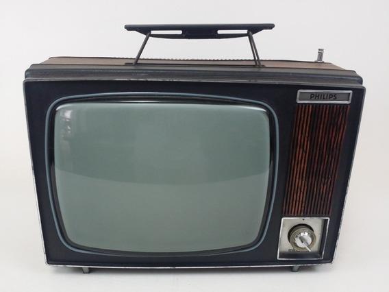 Tv Philips Pb Preto E Branco Minimatic Estilo Valvulado 80