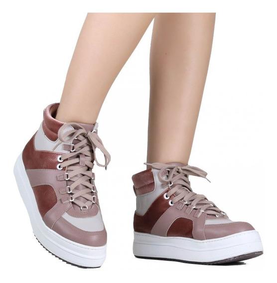 Tênis Feminino Zariff Shoes Cano Alto Flatform