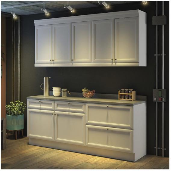 Cozinha Americana Compacta Com Balcão E Tampo 4 Eg
