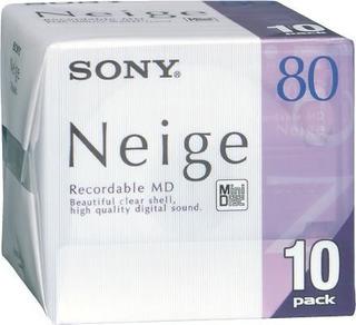 Sony Md80minidisc Neige 80minuto, 10unidades)