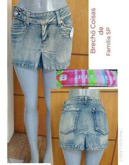 Saia Jeans Mini Blue Steel Tam 38