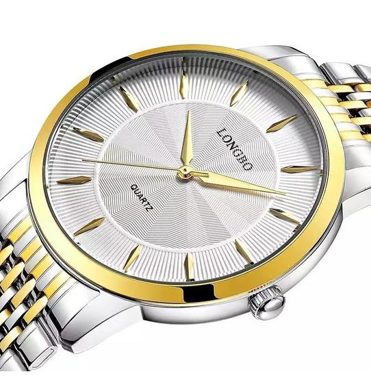 Relógio Longbo Masculino Clássico Elegante Luxo Original