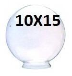 Globo De Vidro P/iluminação Transparente 10x15