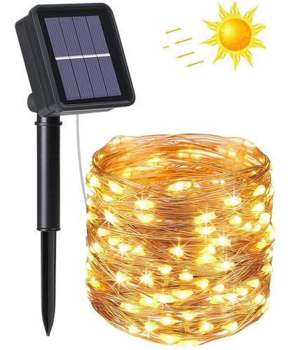 Guirnalda De Luces Solares Exteriores Decoracion 10m 100 Led