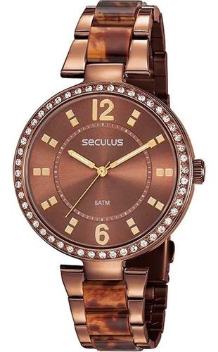 Relógio Feminino Seculus Chocolate 77016lpsvmf6