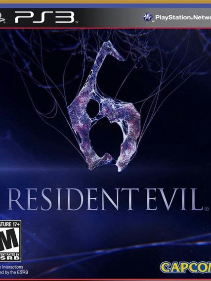 Ps3 Resident Evil 6 Psn Português Jogo Comprar