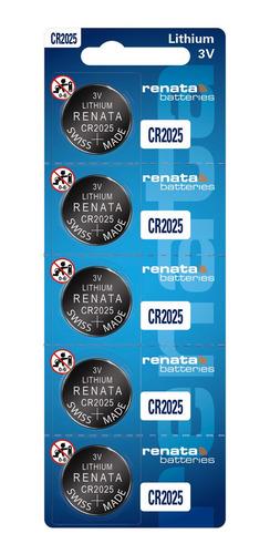 Imagem 1 de 6 de 5 Baterias Cr2025 Renata Chave De Carro Sensor Controle Led