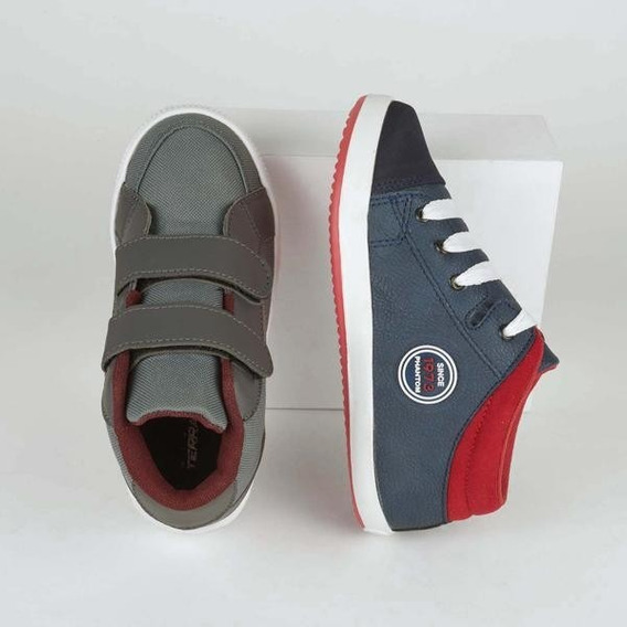Combo 2x1 Tenis Sneakers Para Niño Multicolor 018586