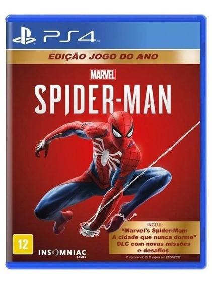 Spider-man Edição Jogo Do Ano (midia Física) - Ps4 (novo)