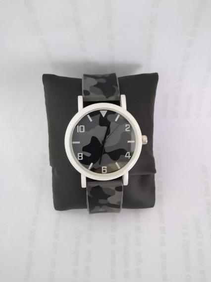 Relógio Branco Camuflado 50% De Desconto