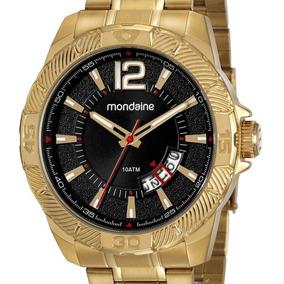 Relógio Mondaine Masculino 53706gpmvde1 Dourado Original