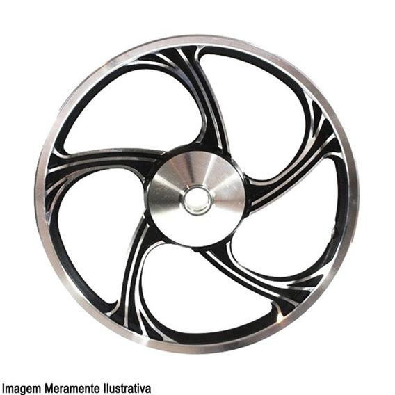 Roda Aluminio Dianteira Temco Icarus Preto Ybr 125 Ks