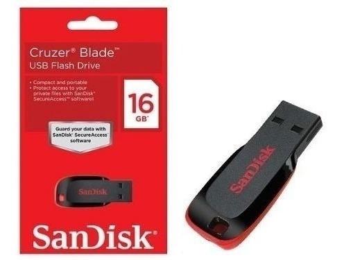 Pen Drive 16gb Sandisk Original Cruzer Blade Lacrado Barato