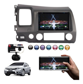 Dvd 2 Din Central Multimidia New Civic 07/11 Rayx + Camera