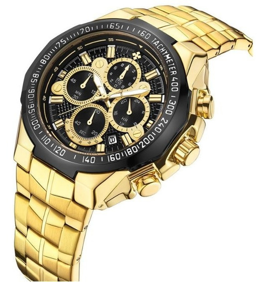 Relógio Masculino Wwoor Original Gold Luxo 8868