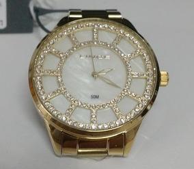 Relógio Lince Feminino Dourado Lrg4378l B1kx Vitrine Lindo