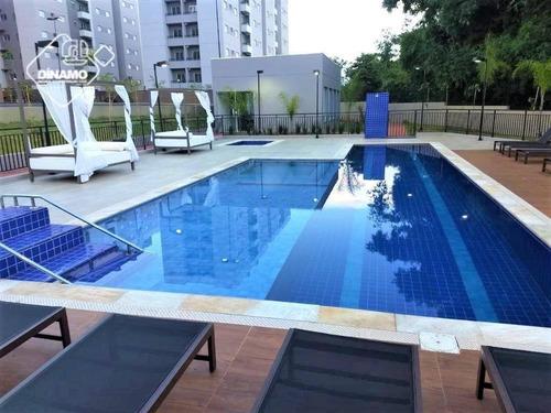 Apartamento Com 2 Dormitórios À Venda, 51 M² - Residencial Greenville - Ribeirão Preto/sp - Ap3204