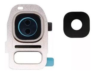 Lente Vidro Camera Traseira S7 S7 Edge Vidrinho + Aro Orig