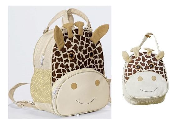 Mochila Bichinho + Lancheira Girafa