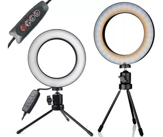 Iluminador Ring Light Tripé Mesa Profissional Youtuber