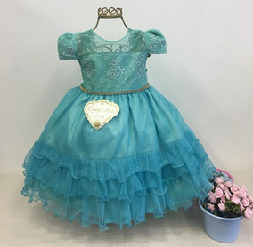 Vestido Festa Bebê Infantil Tiffany Festa Casamento Luxo