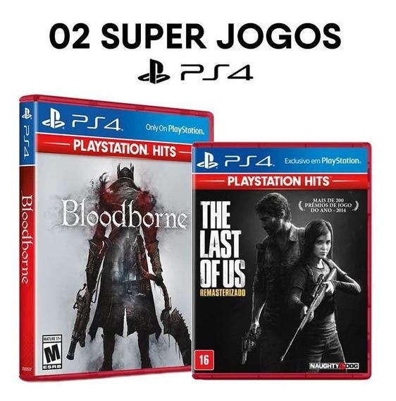 Bloodborne + The Last Of Us ( 100% Port. ) - Ps4 - Lacrados
