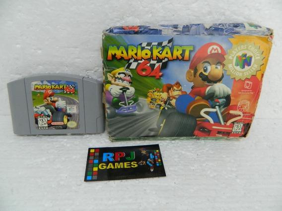 Mario Kart 64 Original Salvando C/ Caixa P/ Nintendo 64 N64