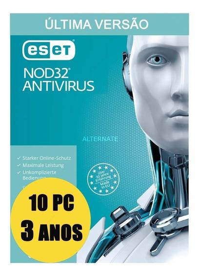 Eset Antivirus 10 Pc 3 Anos Licença Original Garantido