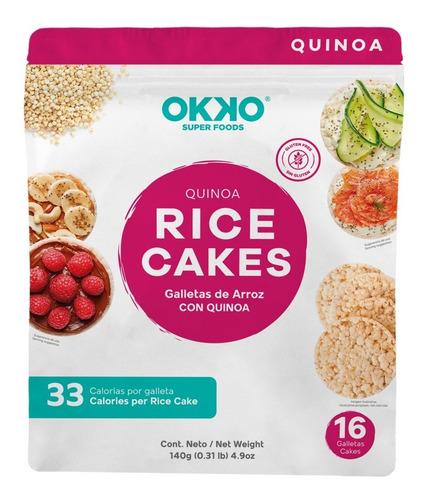 Imagen 1 de 5 de Galletas De Arroz Con Quinoa Snack Perfecto Sin Gluten 16pzs