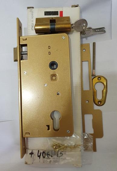Cerradura De Embutir Iseo Oro Entrada 60mm A Cilindro Euro