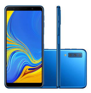 Smartphone Samsung Galaxy A7 Sm-a750g, 4g Android 8.0 64gb Octa Core Câmera Tripla Tela 6.0 , Azul
