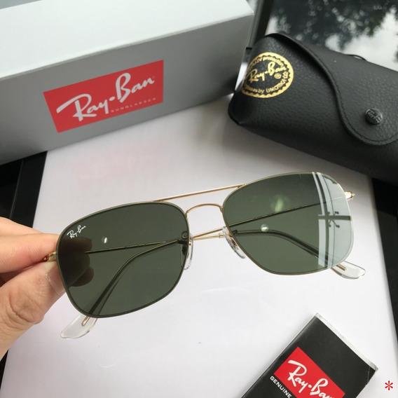 Oculos De Sol Masculino Ray Ban Caravan Rb3136 Militar