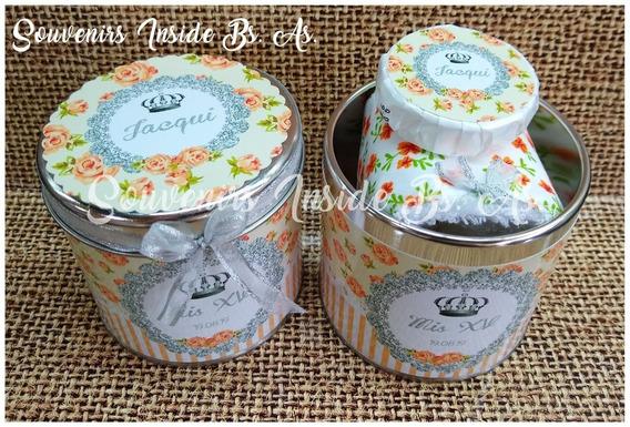 20 Latas Souvenir Completas Toalla+jabón+cinta+envio