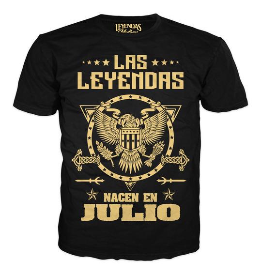 Playera De Leyendas Cumpleaños Aguila Real Julio