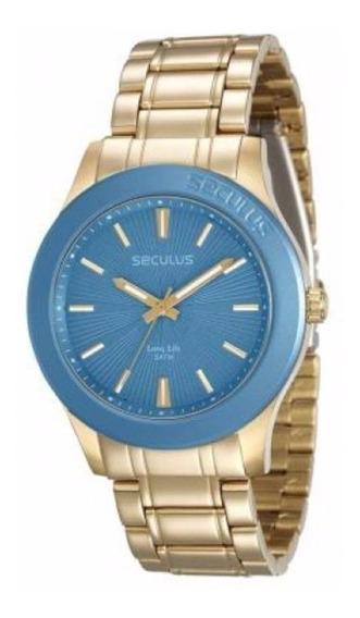 Relógio Seculus 28744lpsvda1 - Dourado