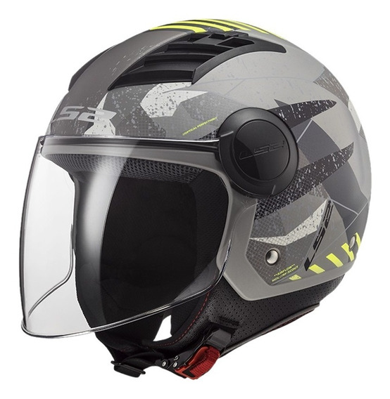 Casco Moto Ls2 Of562 Airflow Camo Titanio