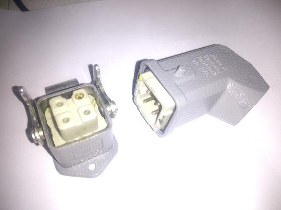 Conector Harting 4 Pinos Macho E Femea 10a 600v Original