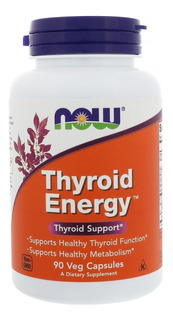 Now Foods, Thyroid Energy, (suporte À Tireoide) 90 Cápsulas