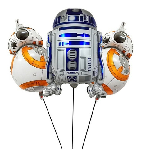 Globos Star Wars R2-d2 Darth Vader Bb8 X 13 Unidades