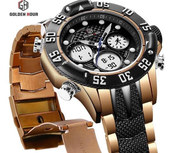 Relógio Golden Hour Para Homens De Bom Gosto