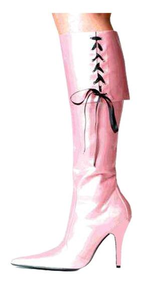 Botas Pink Corsarie, Taco Fino De Cuero Autentico!