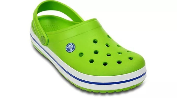 Crocs Crocband Originales Adulto - Volt Green Varsity Blue