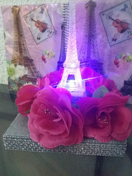 15 Centros De Mesa Xv Años ,torre Eiffel ,boda Envio Gratis