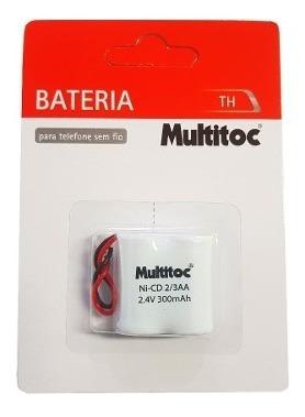 Kit 12pcs Bateria Th 2.4v 300mah 2/3aa Telefone Sem Fio